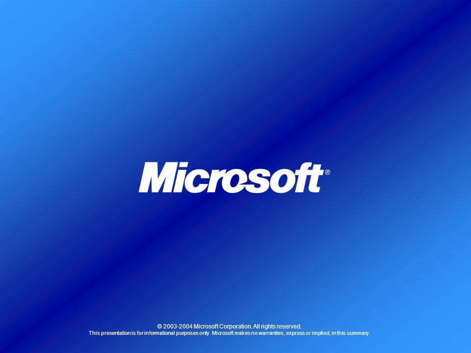 © Microsoft Corporation. All rights reserved.