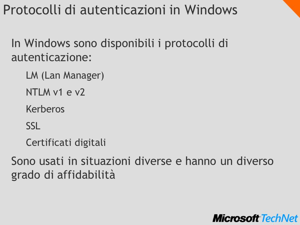 Protocolli di autenticazioni in Windows