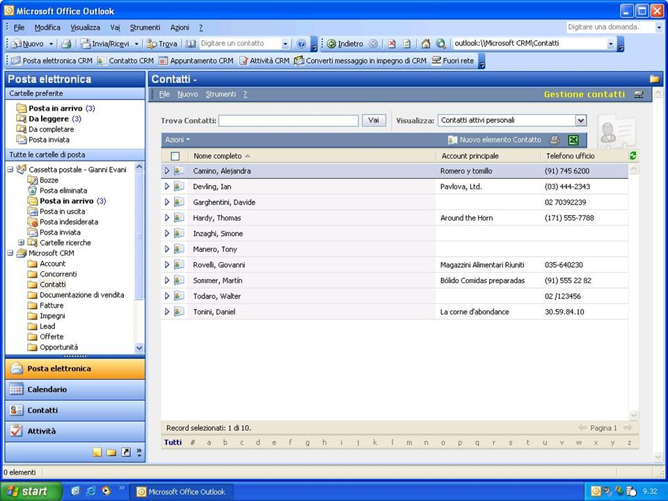 CRM - Outlook