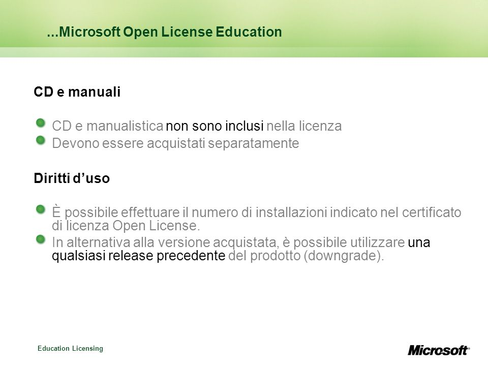 ...Microsoft Open License Education