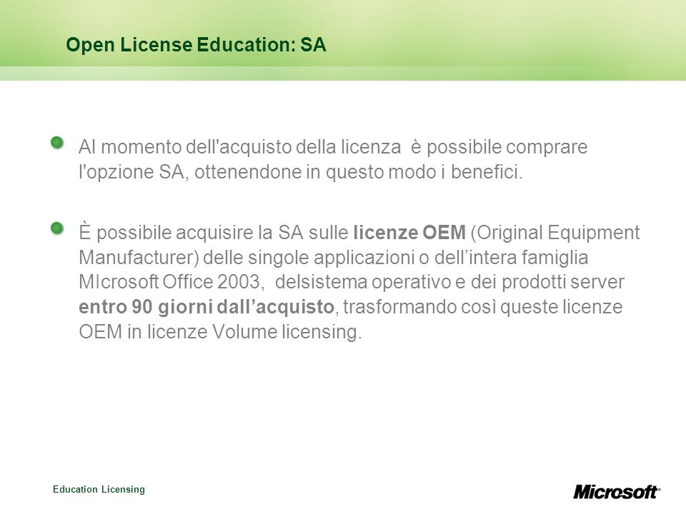 Open License Education: SA