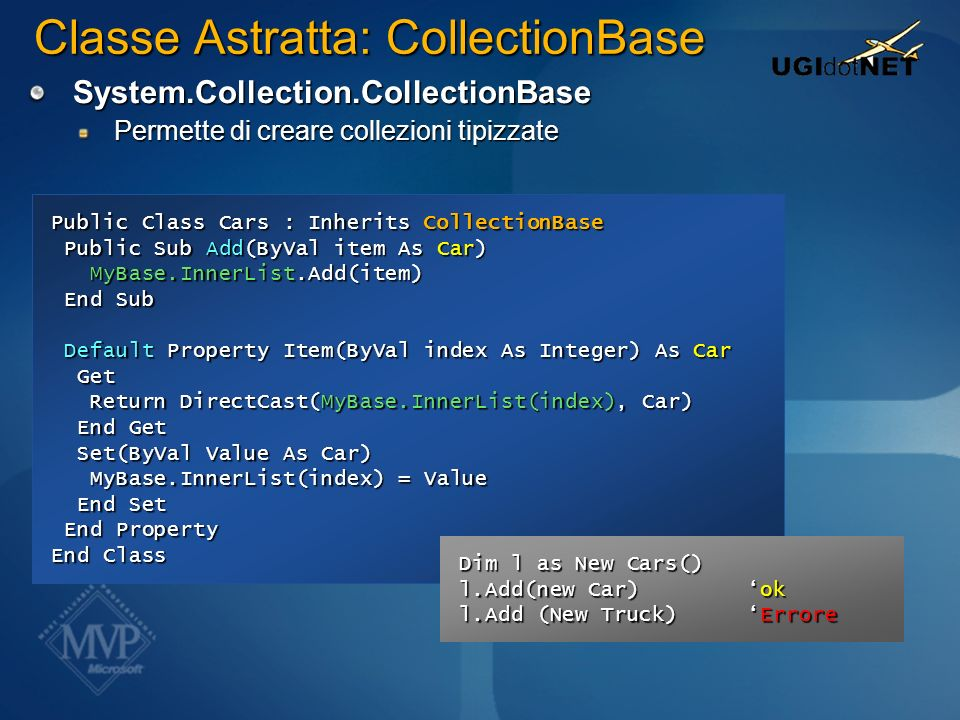 Classe Astratta: CollectionBase