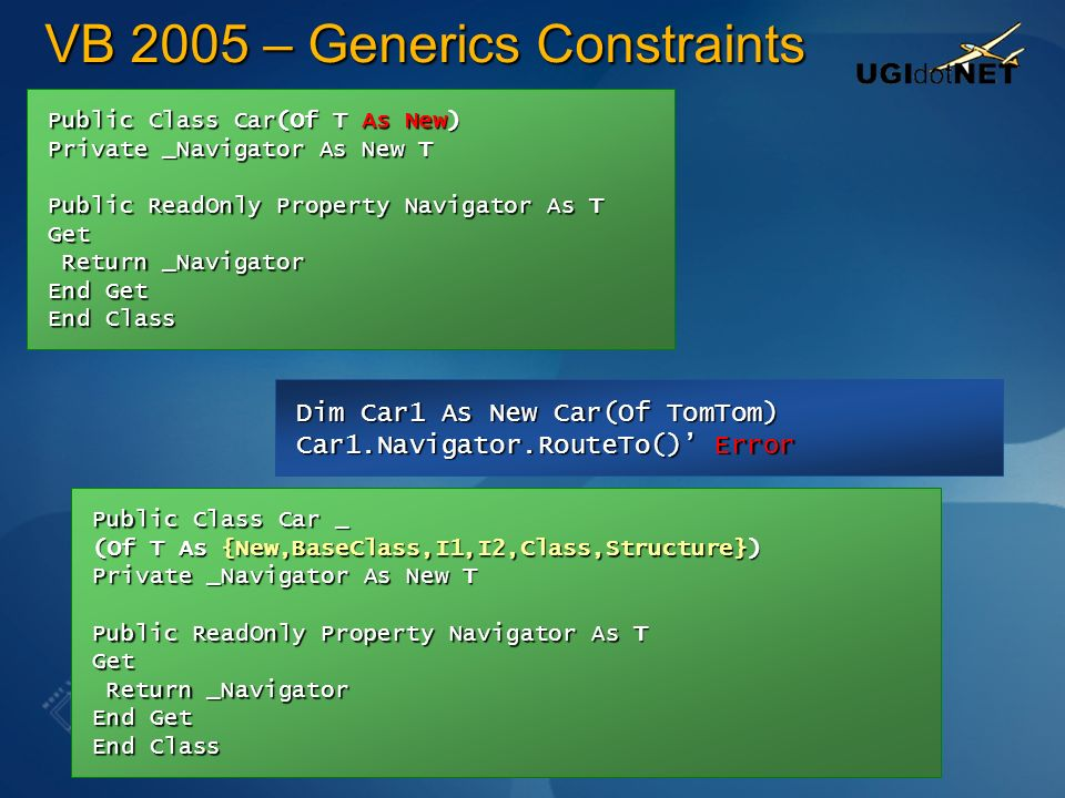 VB 2005 – Generics Constraints