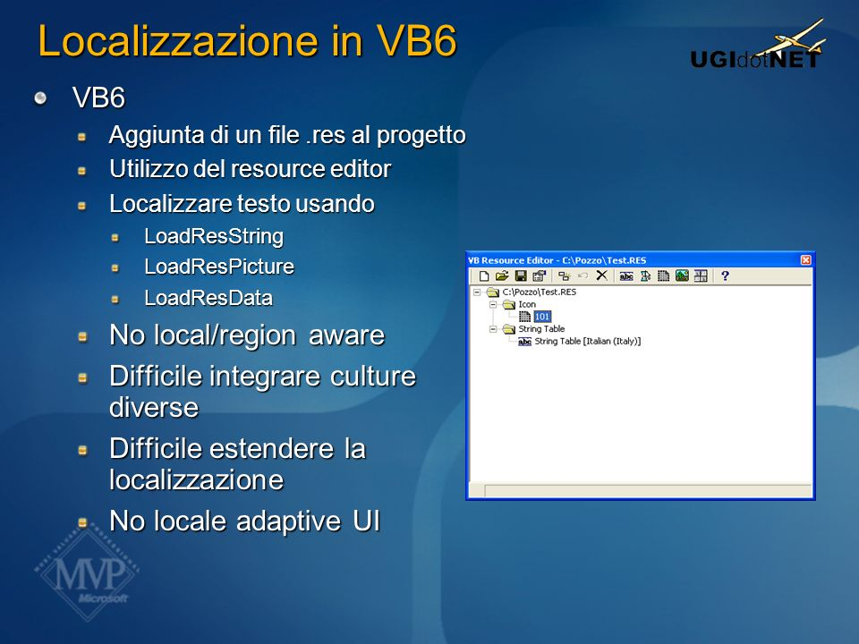 Localizzazione in VB6 VB6 No local/region aware