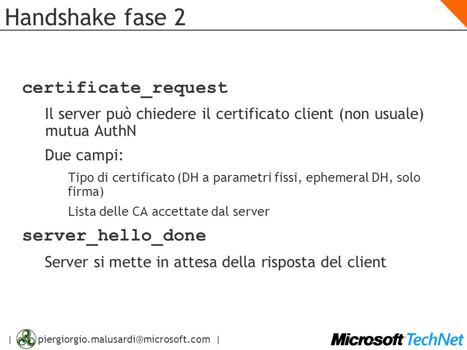 Handshake fase 2 certificate_request server_hello_done