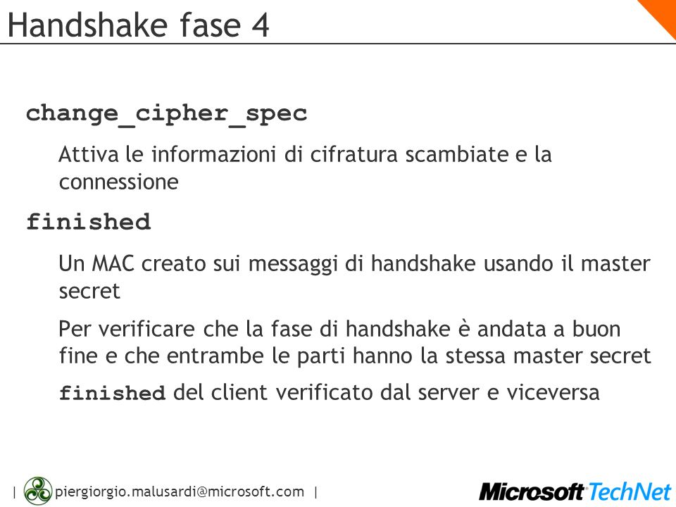 Handshake fase 4 change_cipher_spec finished