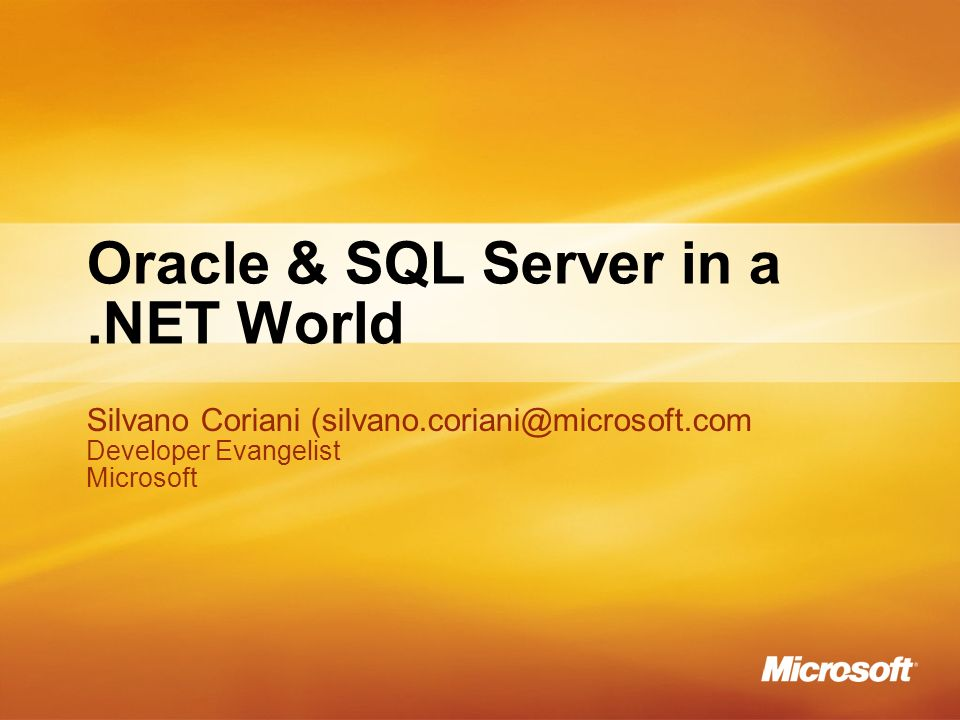 Oracle & SQL Server in a .NET World