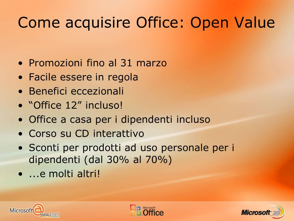 Come acquisire Office: Open Value