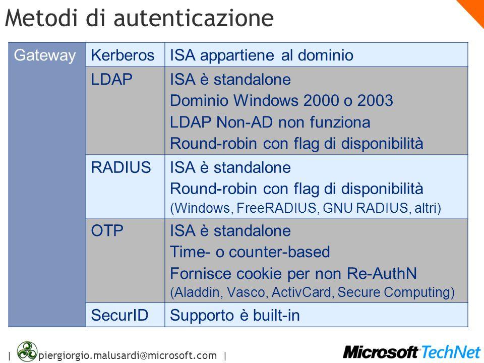 Il nuovo Microsoft ISA Server ppt scaricare