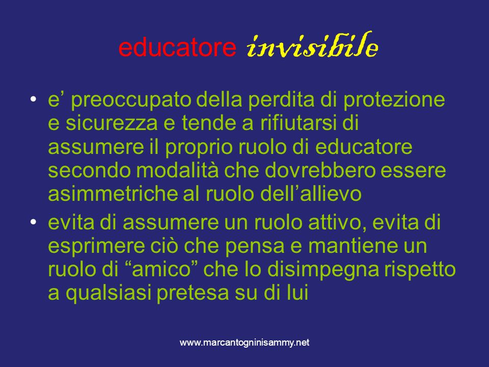 educatore invisibile