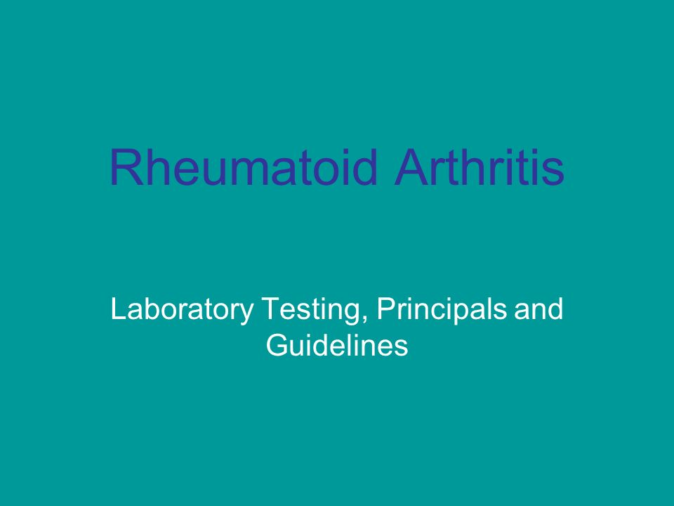 Laboratory Testing, Principals and Guidelines
