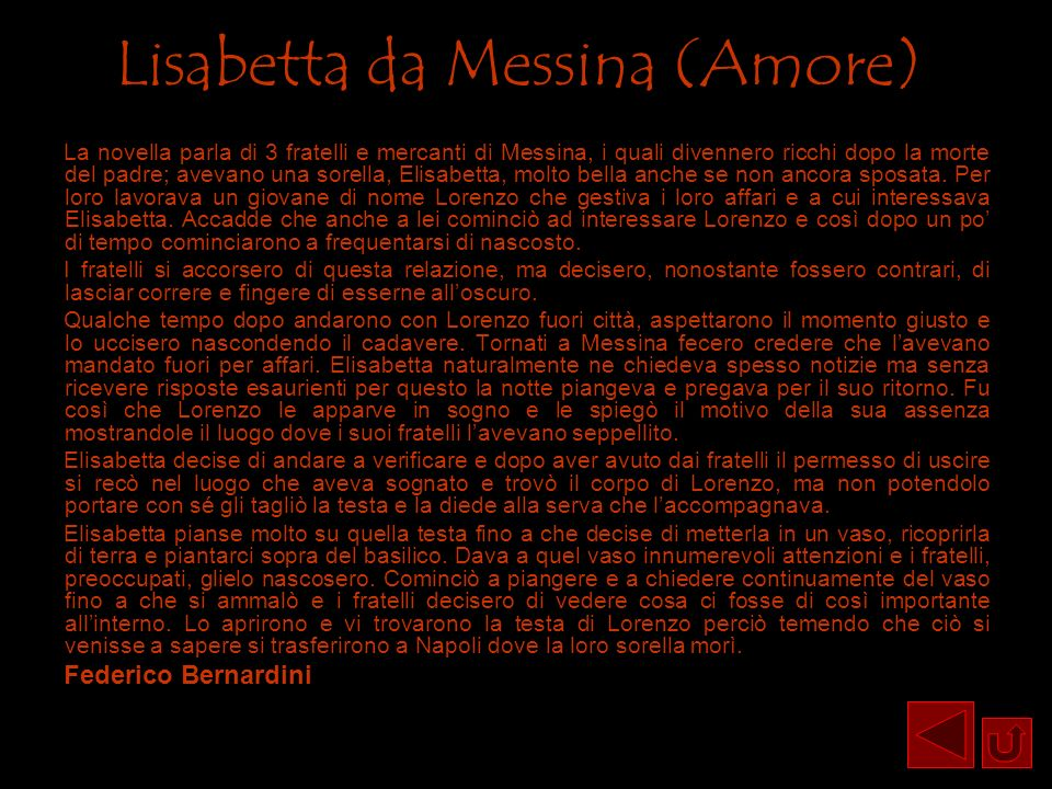 Lisabetta da Messina (Amore)