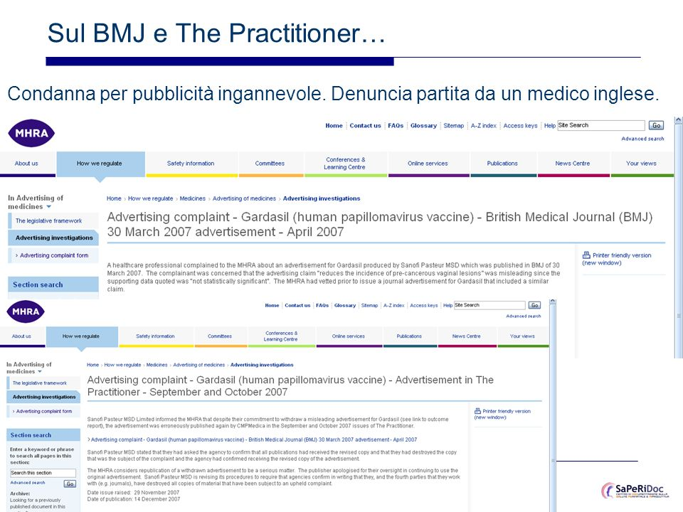 Sul BMJ e The Practitioner…