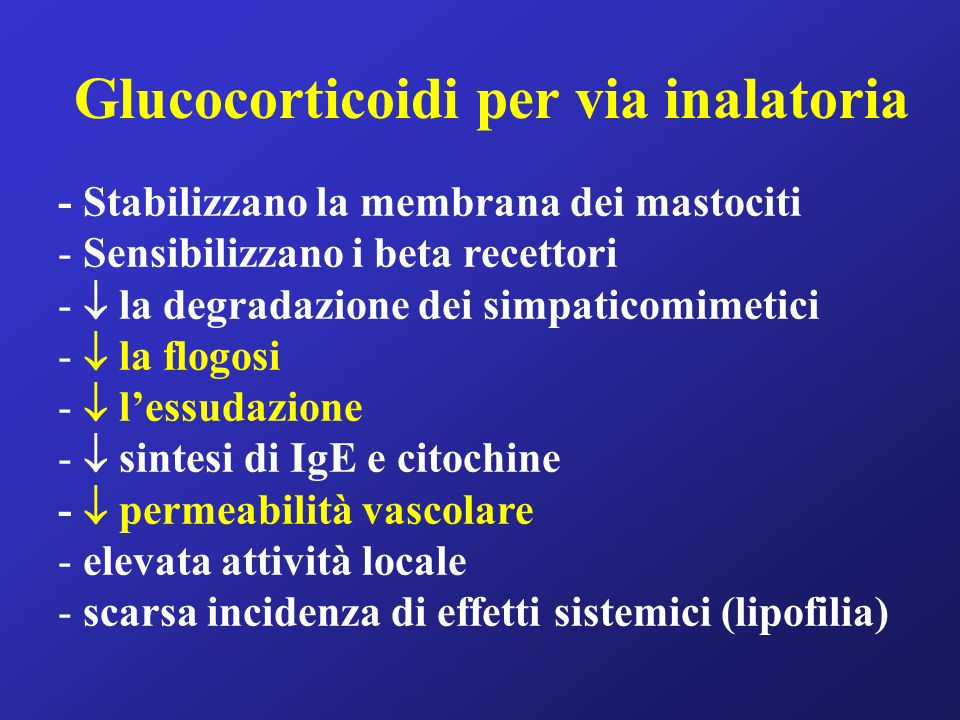 Glucocorticoidi per via inalatoria