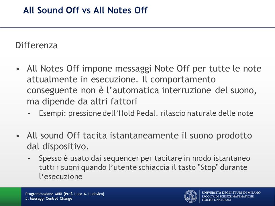 All Sound Off vs All Notes Off