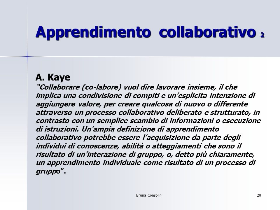 Apprendimento collaborativo 2