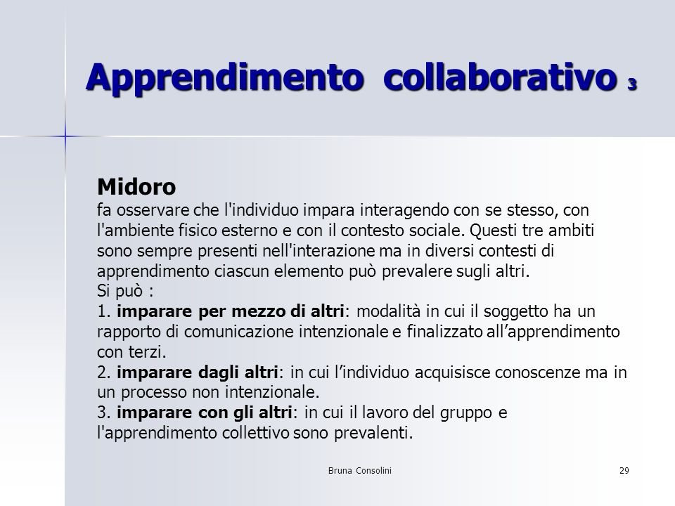 Apprendimento collaborativo 3