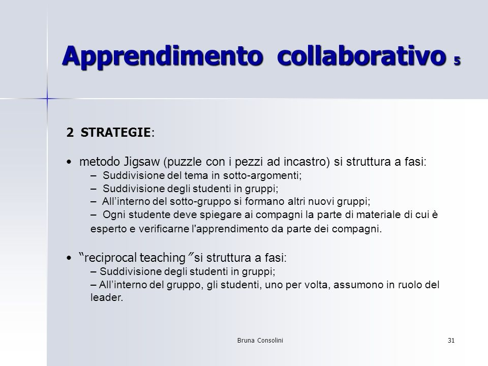 Apprendimento collaborativo 5
