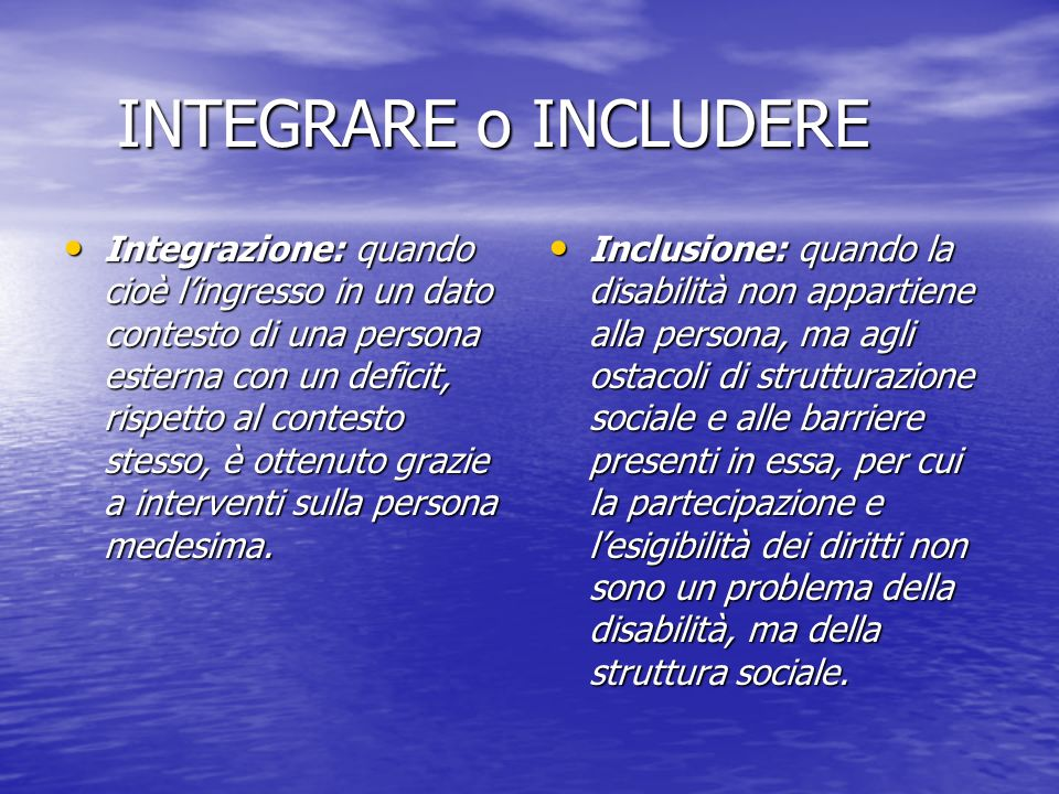 INTEGRARE o INCLUDERE