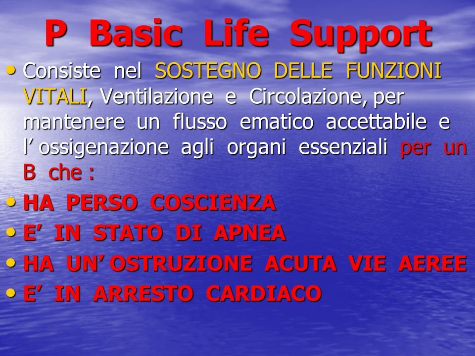 P Basic Life Support