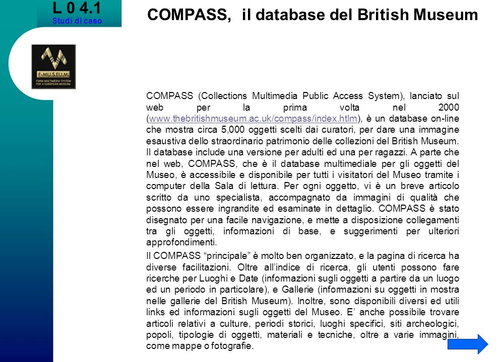 COMPASS, il database del British Museum