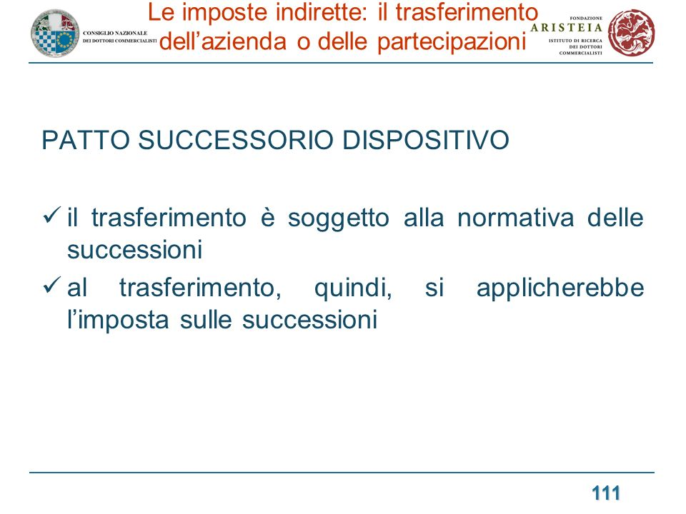 PATTO SUCCESSORIO DISPOSITIVO
