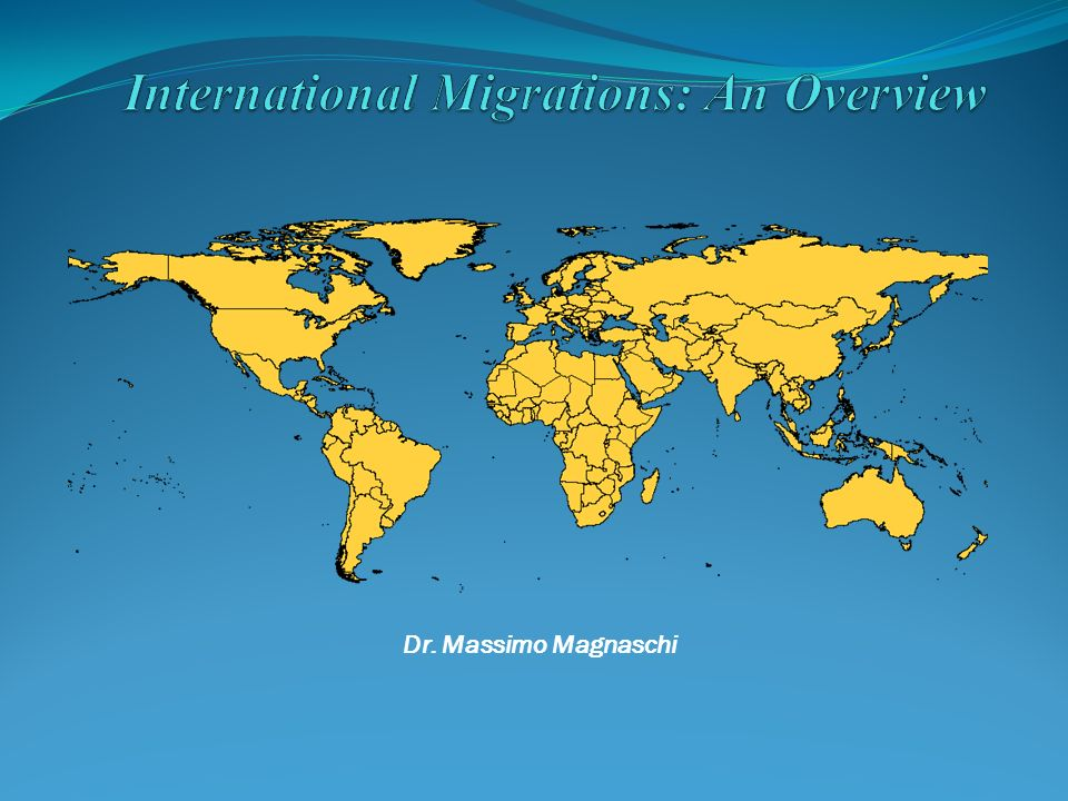 International Migrations: An Overview