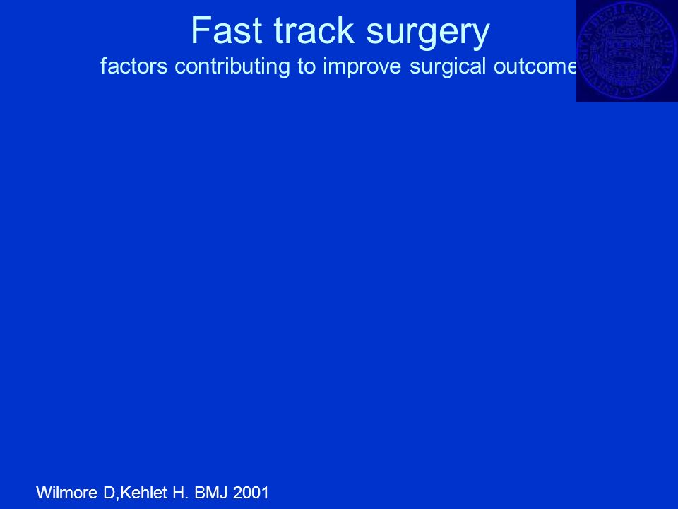 Fast track surgery factors contributing to improve surgical outcome