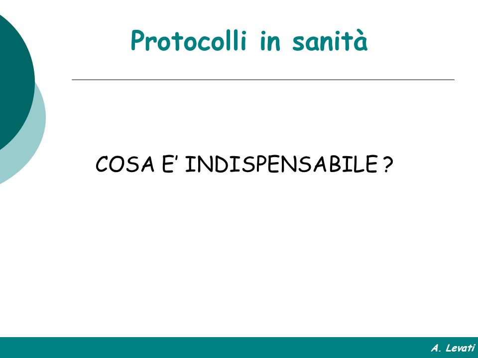 COSA E' INDISPENSABILE