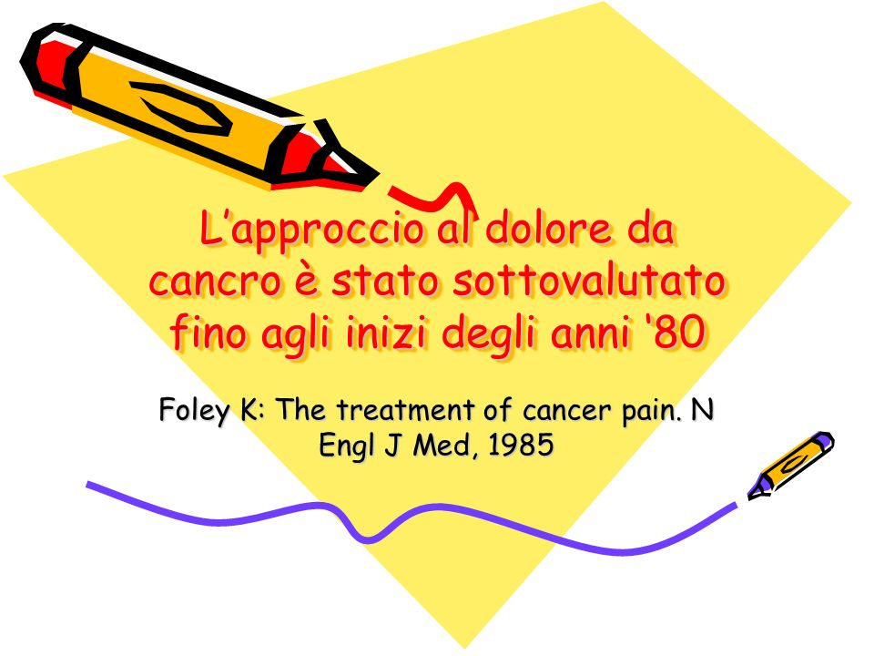 Foley K: The treatment of cancer pain. N Engl J Med, 1985