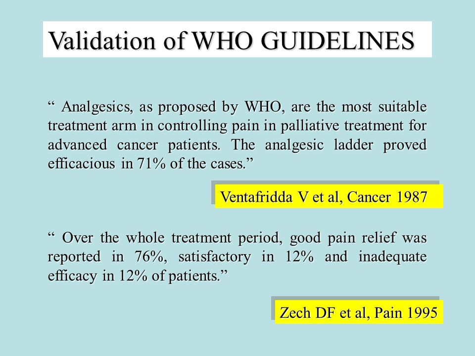 Validation of WHO GUIDELINES