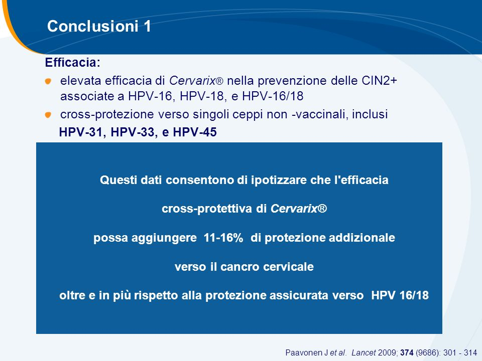 Conclusioni 1 Efficacia: