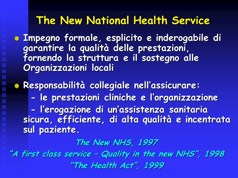 The New National Health Service