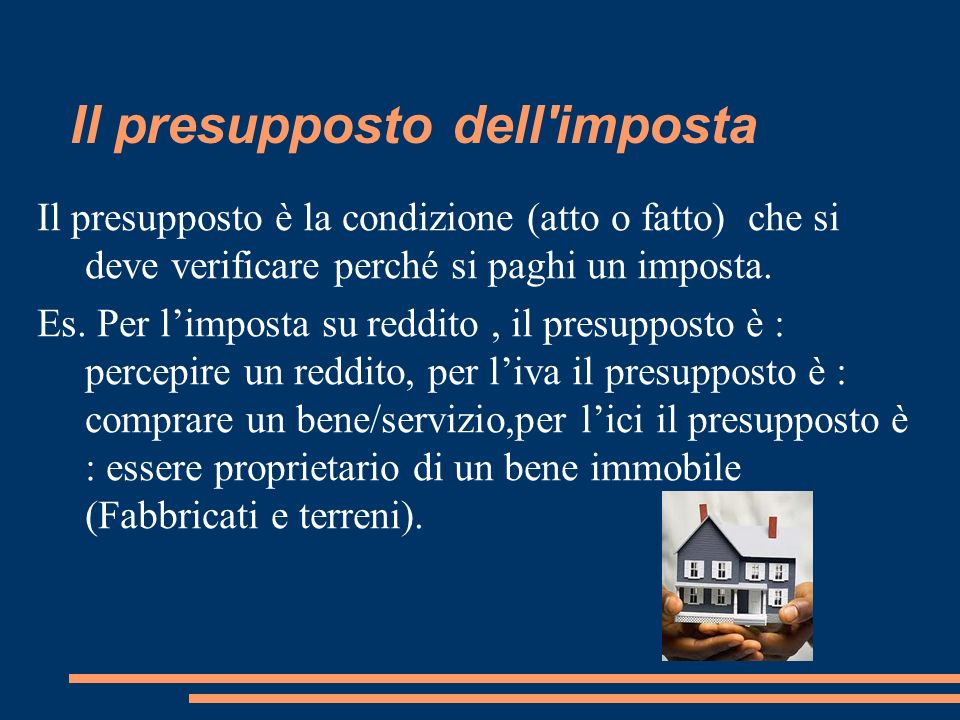 Il presupposto dell imposta