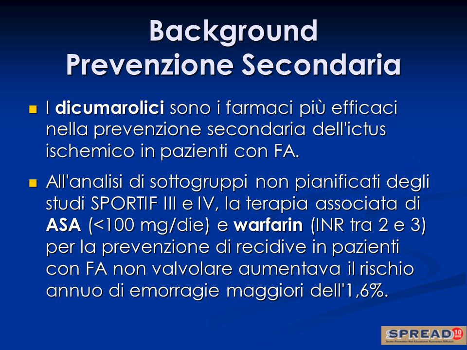 Background Prevenzione Secondaria