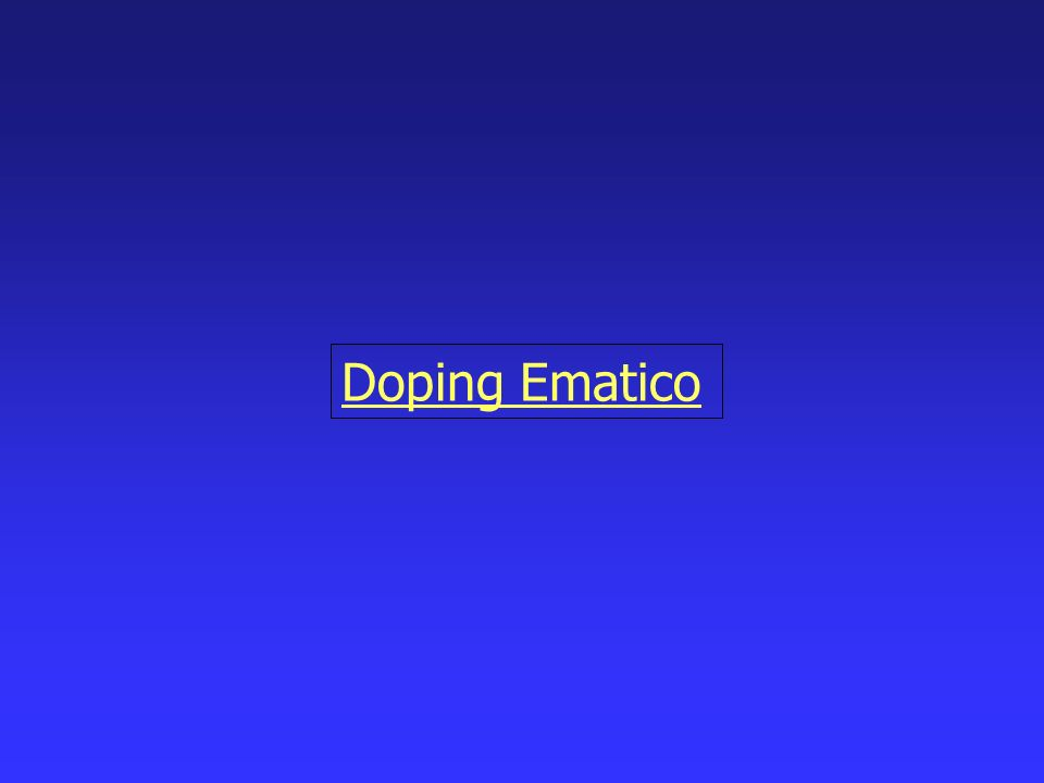 Doping Ematico
