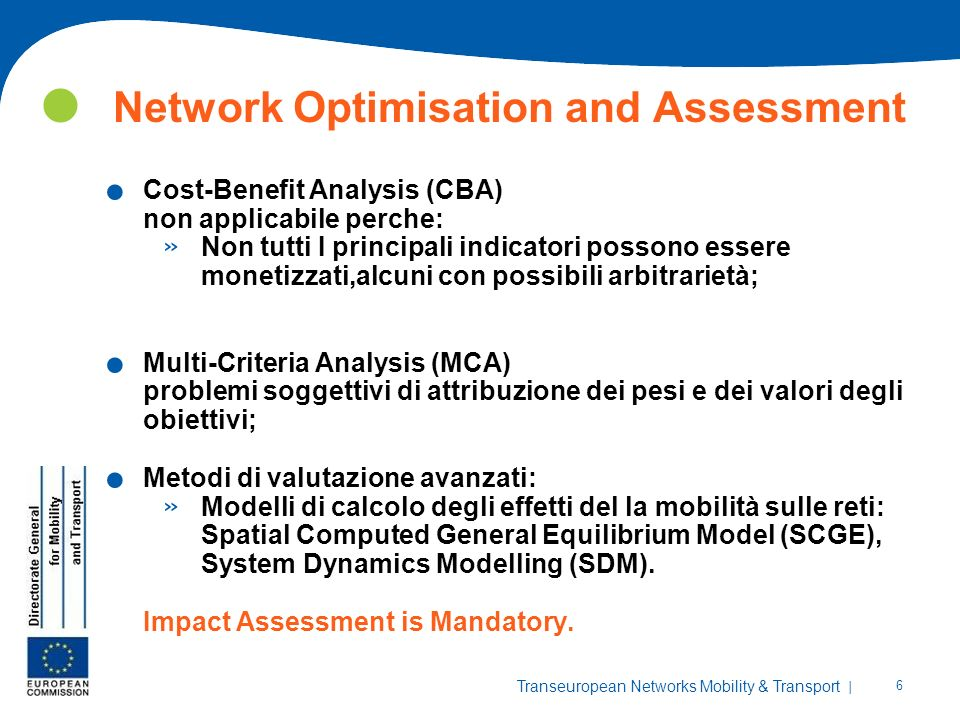 Network Optimisation and Assessment