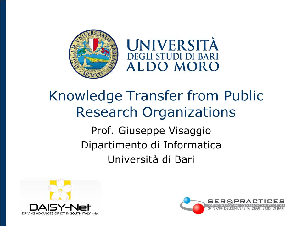 Knowledge Transfer from Public Research Organizations