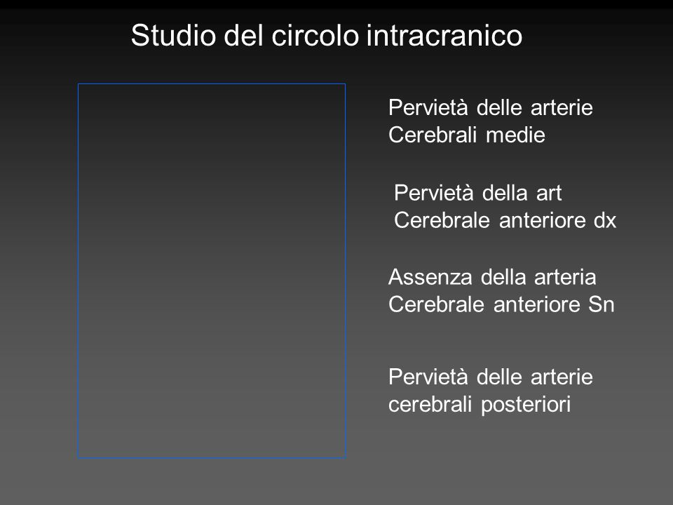 Studio del circolo intracranico