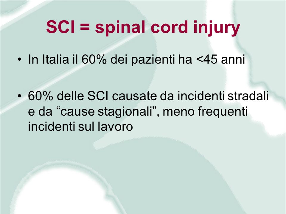 SCI = spinal cord injury