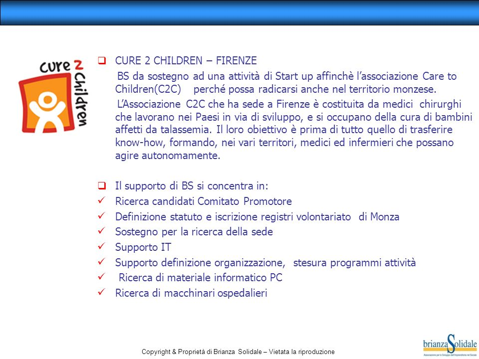 CURE 2 CHILDREN – FIRENZE
