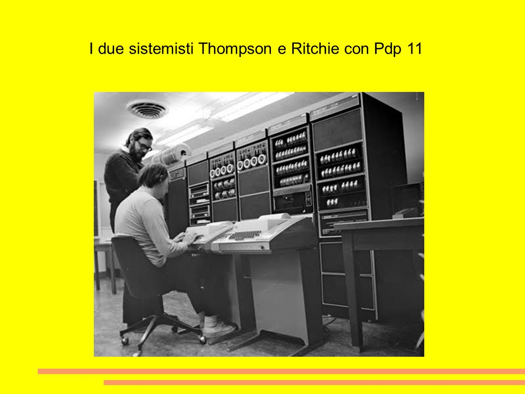 I due sistemisti Thompson e Ritchie con Pdp 11