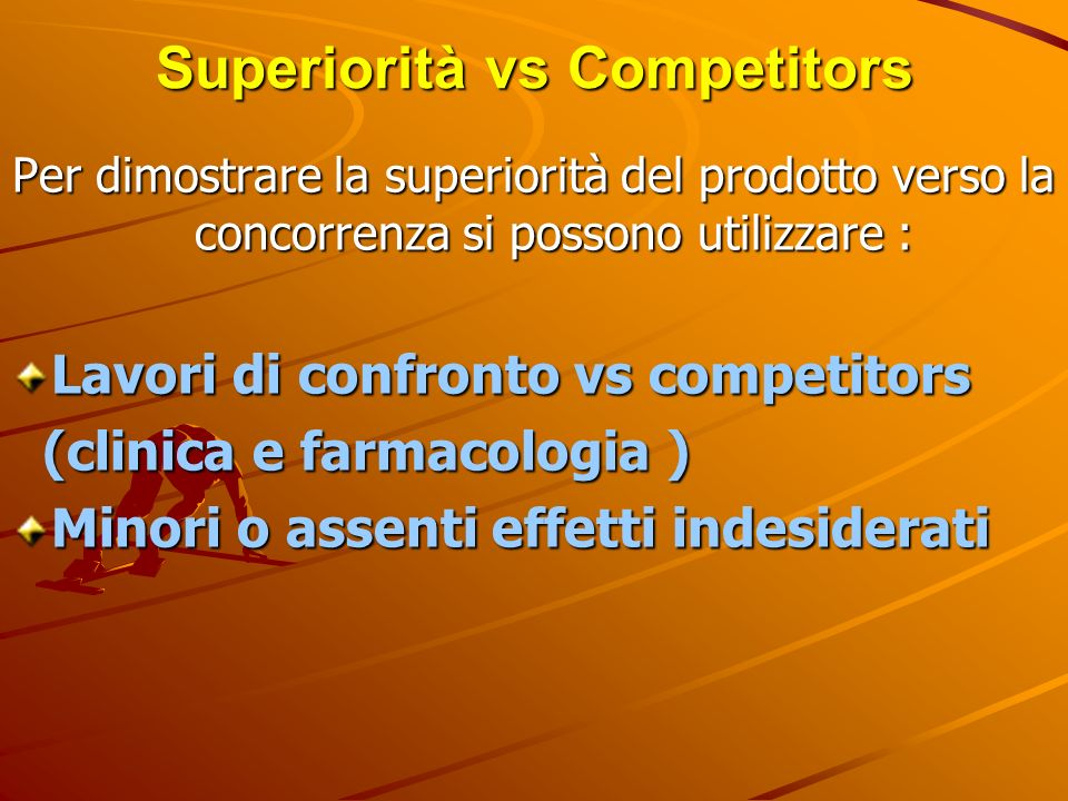 Superiorità vs Competitors