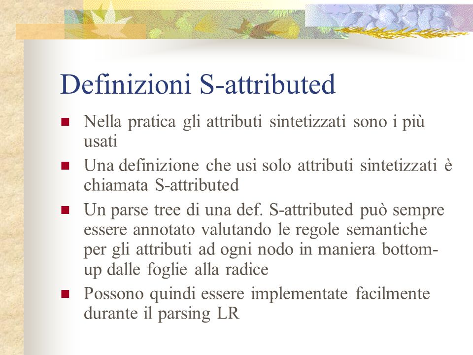 Definizioni S-attributed