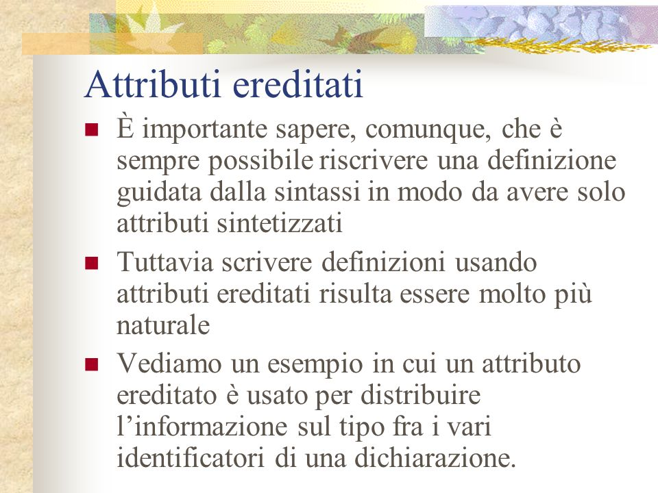 Attributi ereditati