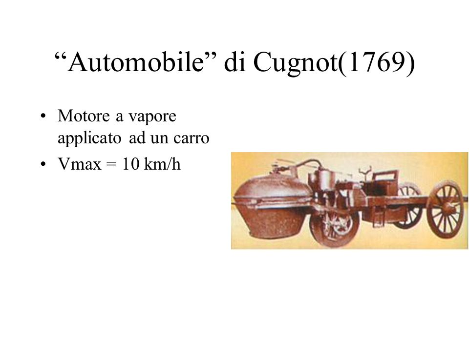 Automobile di Cugnot(1769)