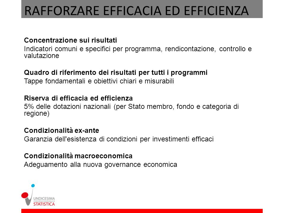 RAFFORZARE EFFICACIA ED EFFICIENZA