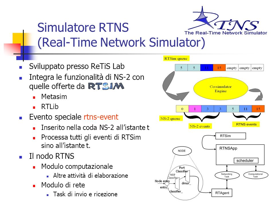 Simulatore RTNS (Real-Time Network Simulator)
