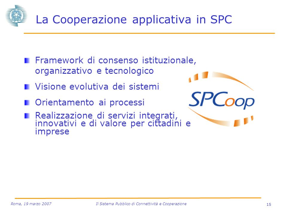 La Cooperazione applicativa in SPC
