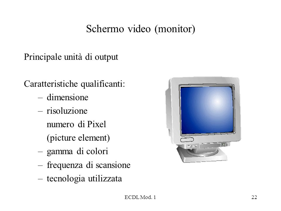 Schermo video (monitor)